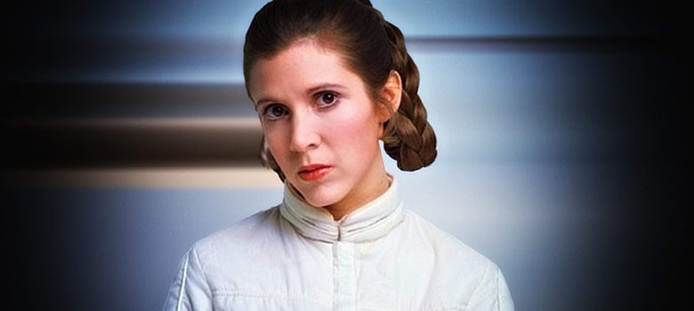 Carrie Fisher princesa